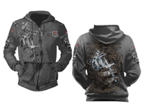 UL 13 Ink Mens Zip Hood