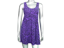 Leopard Dress - Purple