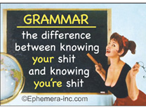 Fridge Magnet - GRAMMAR the difference between knowing your shit and knowing you're shit