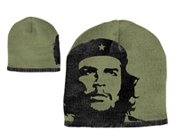 Che - Olive With Black Face Beanie