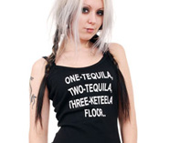 One Tequila, Two Tequila, Three Keteela, Floor.. Strappy Vest