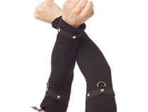 Black Arm Warmers with Ring and Pyramid