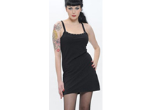 Black Ring-Strap dress with Studs