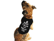 Keep calm and walk on - Dog T-shirt