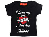 I Love My Mum And Her Tattoos - Baby/Kids T-Shirt