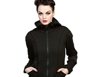 Black Rubber Nub Jacket