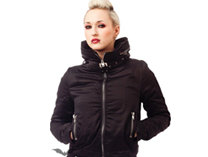 Warm Jacket with Hood hidden in fashionable big collar