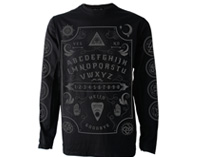 Grey Ouija Board Mens Long Sleeve T Shirt