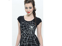 Black Spider Web T-Shirt