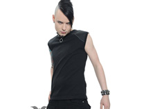 Black Tank Top with Rubber Nub