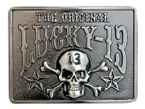 Lucky 13 belt buckle