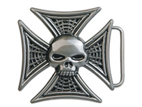 Skull/Iron Cross belt buckle