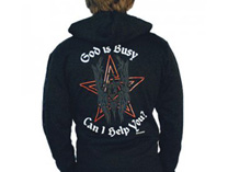 God Is Busy - Can I Help You? Zip Hood